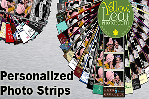 Personalized photo strips for Yellow Leaf Photo Booth in Louisivlle